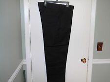 Work'n Gear Mens Pants Size 42 X 30 Black Casual or Work Pants Flat Front New