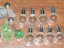 1 Round Magic Orb globe Glass potion Bottle Pendant Vial charm spirit necklace
