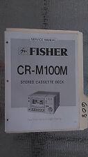 Fisher cr-m100m service manual original repair book stereo tape deck player