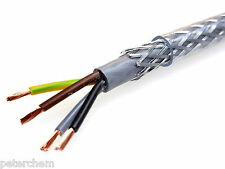 1.5mm 4 core 3 phase SY cable multicore steel braided flexible clear flex by 1m