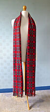 Red tartan  scarf, 9' extra long length, Royal Stewart traditional tartan scarf
