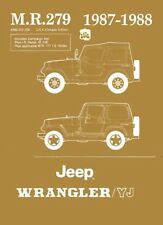 1987 1988 Jeep Wrangler YJ Shop Service Repair Manual Engine Drivetrain Wiring