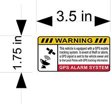 2ea. GPS ALARM SYSTEM car & truck vehicle decals/stickers