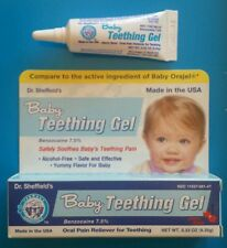 Baby Teething Gel Cherry Flavor Dr. Sheffield's Compare to Orajel .33oz ea