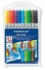 10 x STAEDTLER NORIS CLUB DOUBLE-TIP FELT TIP PENS 320 NWP10 CHEAP FAST POST NEW