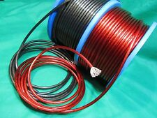 20Ft 8 Gauge 10' Black, 10' Red Primary Speaker Wire Amp Power Ground Car Audio.
