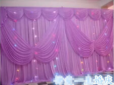 Pure white wedding event stage decoration backdrop party drapes swag silk fabric