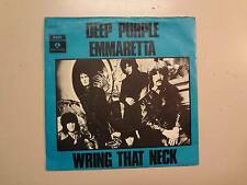 "DEEP PURPLE: Emmaretta-Wring That Neck-Denmark 7"" 1969 Parlophone EMI R 5763 PSL"