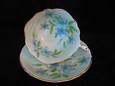 PARAGON BONE CHINA TEA CUP & SAUCER SET BLUE GREEN COMBINATION ENGLAND