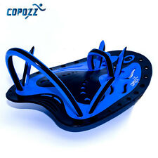 COPOZZ  Swimming Hand Paddles Adjustable Silicone Gloves Kid Safe Training Blue