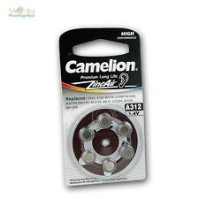 6 Pack Hearing aid battery A312, batteries Camelion