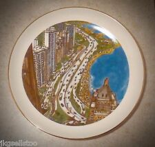 CHICAGO COLLECTOR PLATE *OUTER DRIVE/LAKE MICHIGAN - FRANK McMAHON 1981