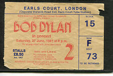 Bob Dylan 1981 Concert Ticket Stub Shot of Love Tour Earls Court London UK