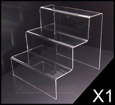 3 STEP ACRYLIC DISPLAY PRODUCT RETAIL DISPLAY COUNTER STAND PERSPEX STAND