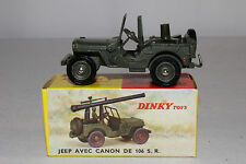 1960's French Dinky #829 Jeep with Mounted Cannon, Nice with Original Box, Lot 1