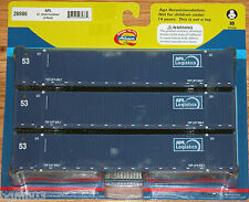 ATHEARN 28986 53' JINDO CONTAINER 3-PACK APL