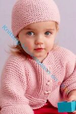 Knitting Pattern -Baby up to 3yrs Cardigan & Hat  (5 sizes) PO271