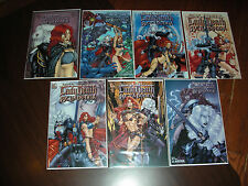 LADY DEATH BELLADONNA 7 BOOKS VAR'S ALL SIGNED CREATOR/WRITER BRIAN PULIDO COA'S