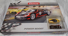 CARRERA #25206 Evolution POWER BOOST 1/32 scale slot car race track set analog