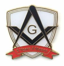 5 Years a Mason Masonic Commemorative Lapel Pin Badge *Exclusive*