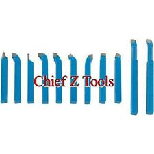 "NEW 11pc Metal Lathe Carbide 5/16"" C2 Cutter Tooling Turning Parting Bit Set"