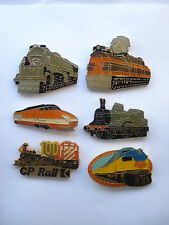 SALE RARE VINTAGE STEAM TRAIN RAILWAY TVG SET PIN LOCOMOTIVE BADGE LOT BUNDLE X6