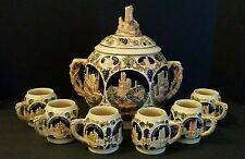 German Tureen and Cups by Gerz - Soup, Wine Jug - Pre-WWII