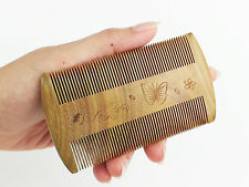 Natural Jade Sandalwood Healthy Hair Comb Fine Tooth, Dandruff & Lice Remover