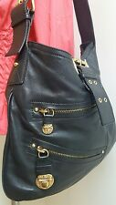 Authentic Marc Jacobs Handbag Made in Italy Black Leather Gold Tone Hardware