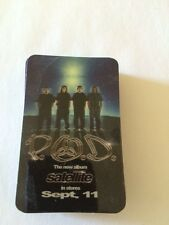 P.O.D. PROMO SATELLITE DOWNLOAD CARD LAMINATED 3 INCHES X 2 INCHES