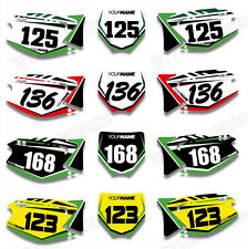 Custom Backgrounds Number Plate Graphics Kit For Kawasaki KX125 KX250 2003-2013