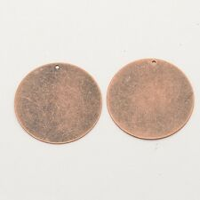 Metal Stamping Blanks Brass 34mm Copper Blanks Charms Blank Charms 10 pieces