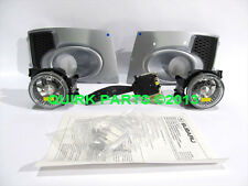 2011-2014 Subaru Impreza WRX Fog Light Lamps Bezels Ice Silver Metallic OEM NEW