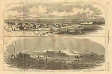 Civil War, Rebel Camp, Centerville, VA. Bull Run, Manassas, RR, Antique, Print,