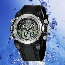 Oshen AD0721 Watch Multifunction Digital & Analogue Water Resistant Sport Silver