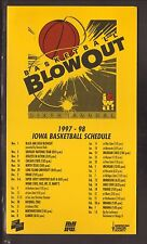 1997-98 Iowa Hawkeyes Basketball Magnet Schedule