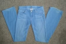 Peoples Liberation Womens Boot Cut Denim Light Blue Jeans Size 24 (27X33)