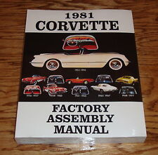 1981 Chevrolet Corvette Factory Assembly Manual 81 Chevy
