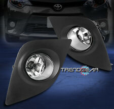2014-2016 TOYOTA COROLLA CE ECO L LE BUMPER CHROME FOG LIGHT LAMP W/COVER+SWITCH