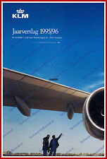 ANNUAL REPORT - KLM ROYAL DUTCH AIRLINES 1995-1996 - DUTCH
