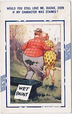 Old Postcard - Would you love me Duckie, even if my character was stained?