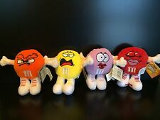 M&M Mini Swarmees Plush Collectible Lot Of 4 Stuffed Toys By Mars With Tags Lila