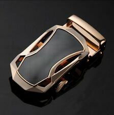 Fashion Mens Genuine Leather Black Automatic Buckle Casual Waist Strap Belts