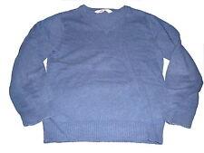 H & M toller Strick Pullover Gr. 122 / 128 blau mit V-Ausschnitt !!