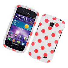 Samsung Galaxy Proclaim SCH-S720C HARD Case Phone Cover White Pink Polka Dots