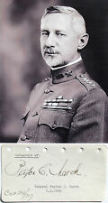 General Peyton C. March United States Army Chief Of Staff Autograph Album Page