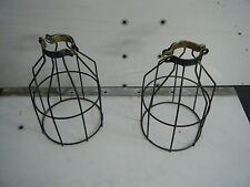 steampunk safety cage trouble light industrial wire lamp shade
