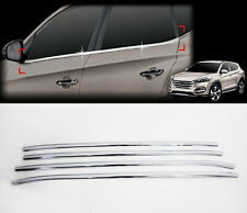Chrome Window Accent Garnish Molding Trim Line Sill 4p For 2016 Hyundai Tucson