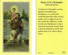 Travelers Prayer to St Saint Christopher Lot of 2 Catholic Christian  cards