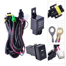 Fog Light Wiring Harness Sockets Wire + LED indicators Switch + Relay for  Ford